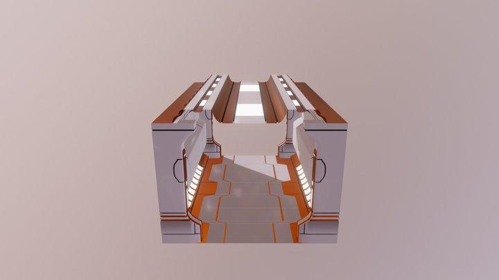 Sci Fi Corridor (Straight). 3D Model