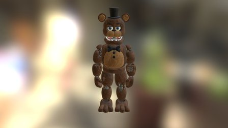 Withered fredd 3D Model