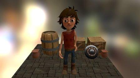 Desolate Boy 3D Model