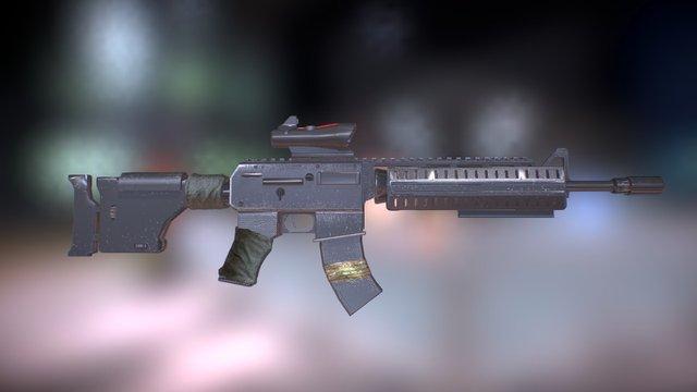 All American Assault Rifle (Fallout 3) 3D Model
