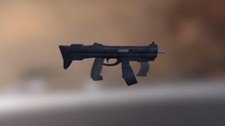 Futuristic SMG 3D Model