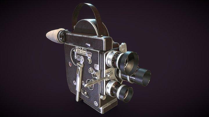 PBR Bolex H16 Movie Camera 3D Model
