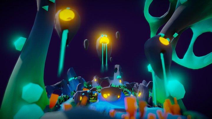 Mushroom`s Undersides 3D Model