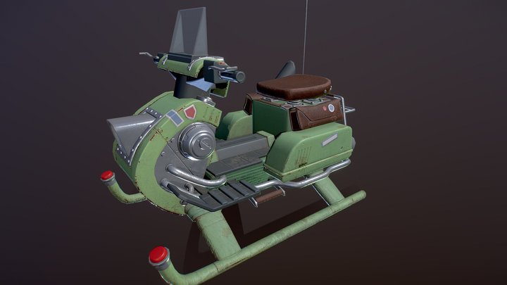 Snowmobile 3D Model