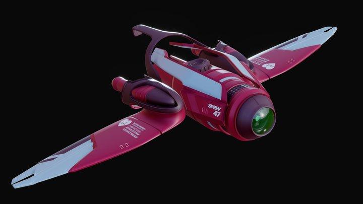Sparrow Drone - SPRW 47 3D Model