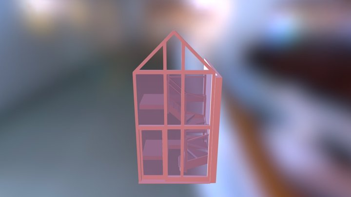 Stairs Glass Risers Option With Lights 3D Model
