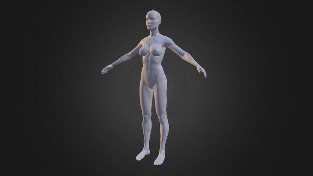 Female model in Zbrush (decimated) 3D Model