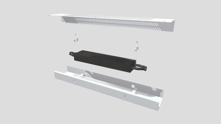 Фасадный конвектор КФС 11_06_080 3D Model