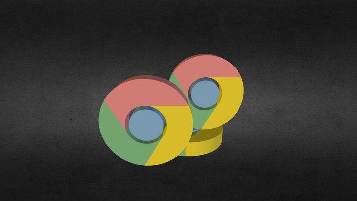 Google Chrome Logo 3D Model