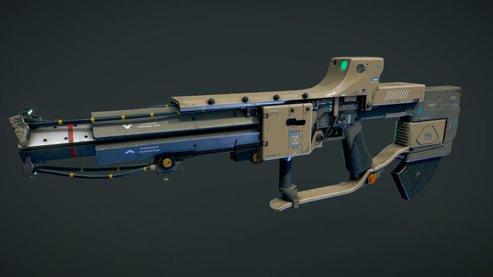 Sci Fi Rifle 3D Model