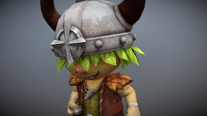 ViKing cute. :) 3D Model