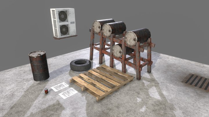 Random Factory Assets HD 3D Model