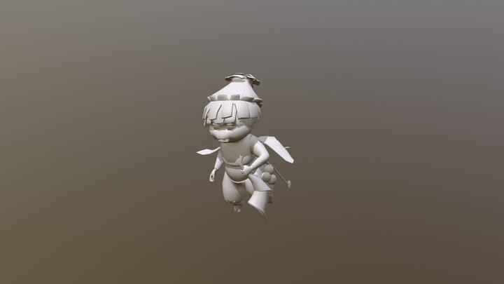 Nym the Garden Fairy - Flying 3D Model