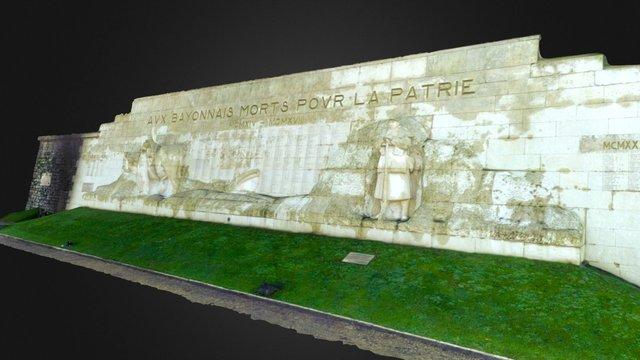 Monument aux morts de Bayonne 3D Model