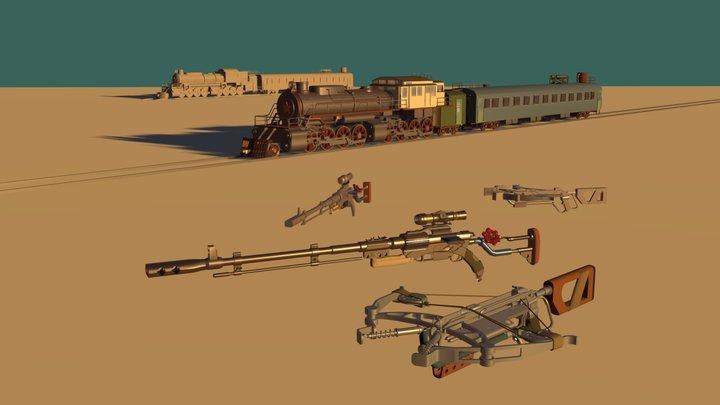 Aurora, Helsing And Valve from Metro Exodus 3D Model