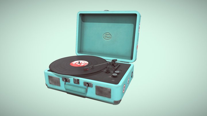Retro Turntable 3D Model