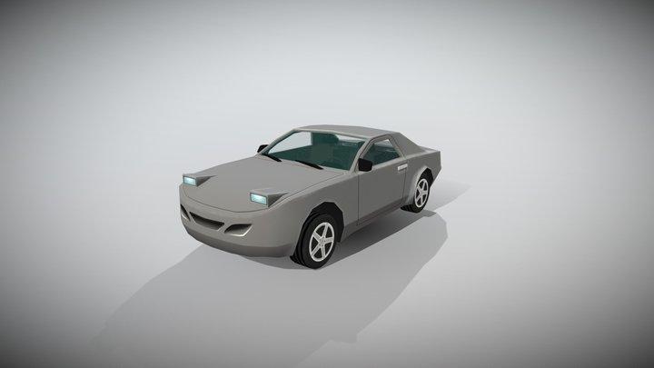 Lowpoly race car 3D Model