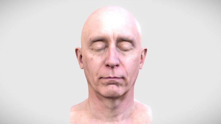3D Scan Head of a Man 3D Model