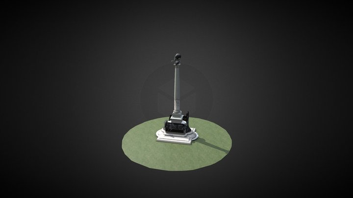 Porto - Rotunda da Boavista 3D Model