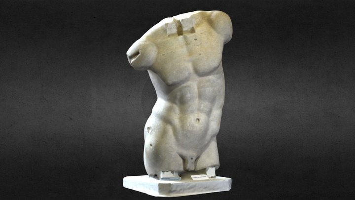 Statue of Male Figure 3D Model