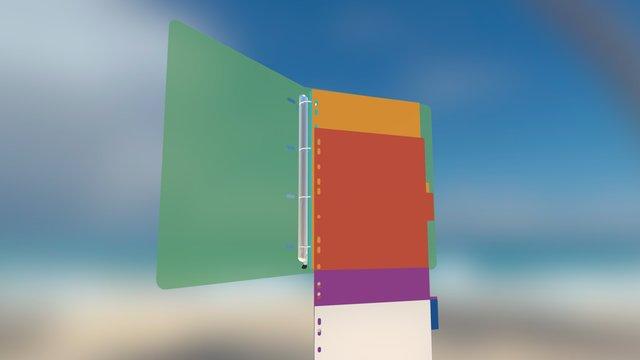 Binder and separator sheet animation 3D Model