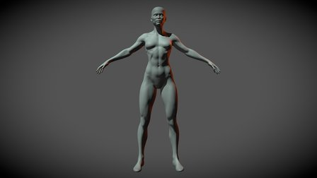 Superheroine Base Mesh 3D Model