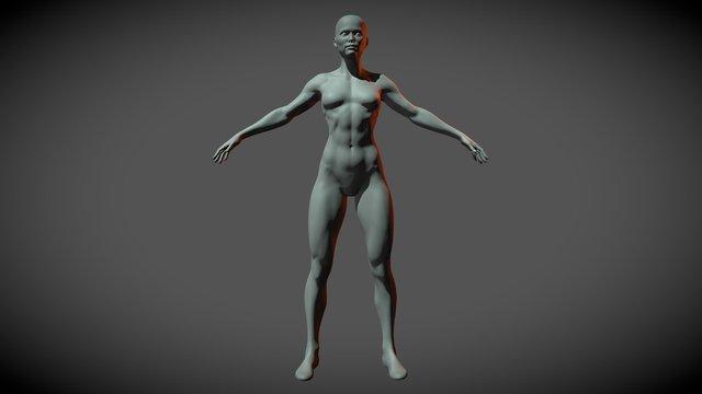 Superheroine Base Mesh 3D Model