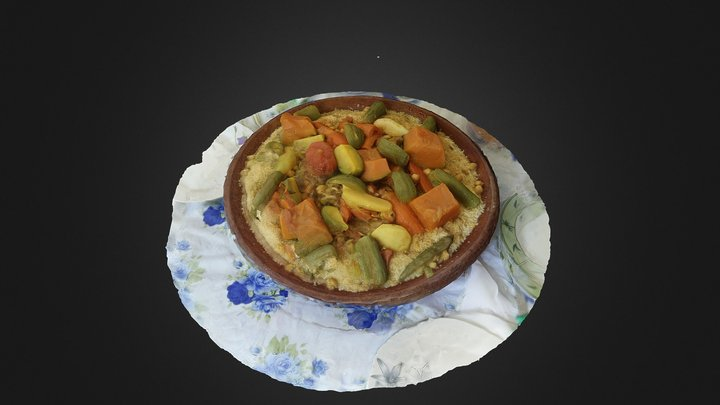 Latifah's couscous 3D Model