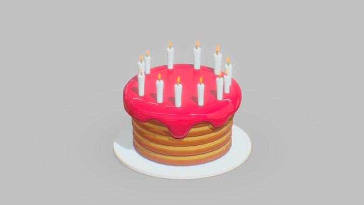 Vadim's Birthday Cake 3D Model