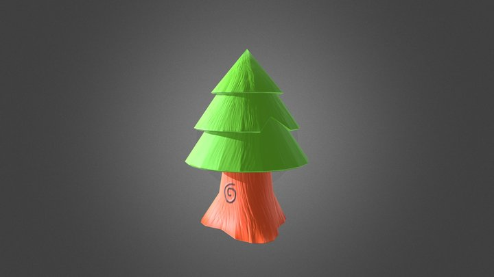 Low Poly Tree 3D Model