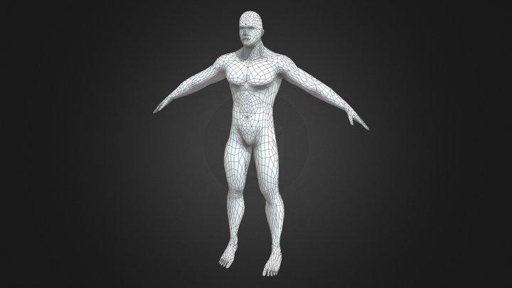 Low Poly Male Body Base 3D Model