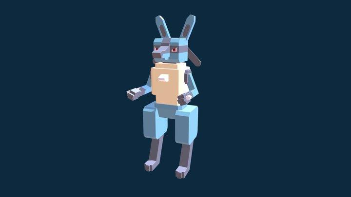 Lucario Minecraft 3D Model