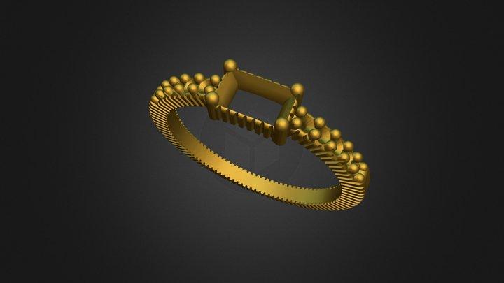 Ring Baguete 3D Model