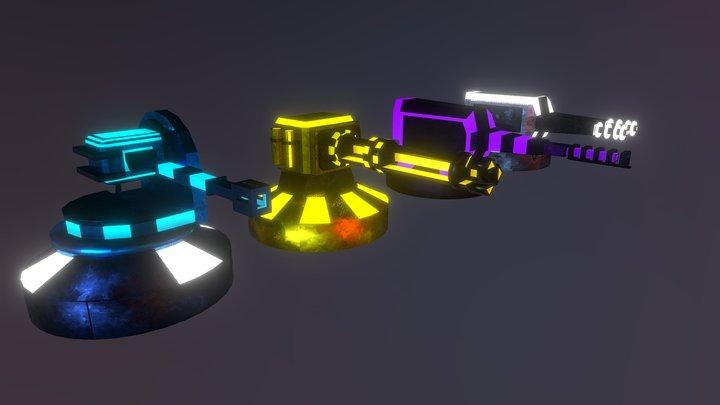 Towers Gun 3D Model