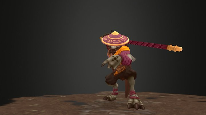 Acolyte Grey Animations 3D Model