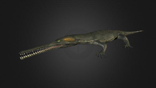 Champsosaurus 3D Model