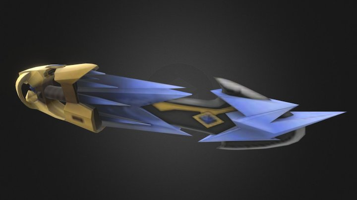 Exodion - the corrupted ice sword (WoW Design) 3D Model