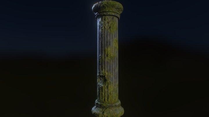 Moss Pillar 3D Model