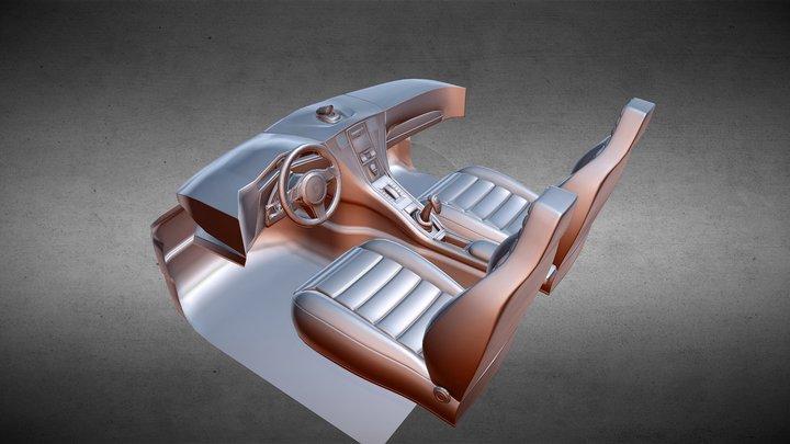 Car Interior 'unfinished' 3D Model