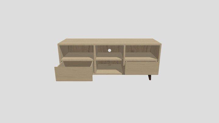 Wood Furniture for TV 3D Model