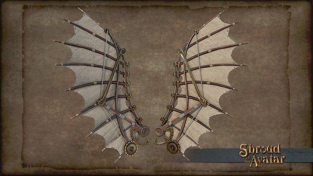 Ornate Clockwork Wings 3D Model