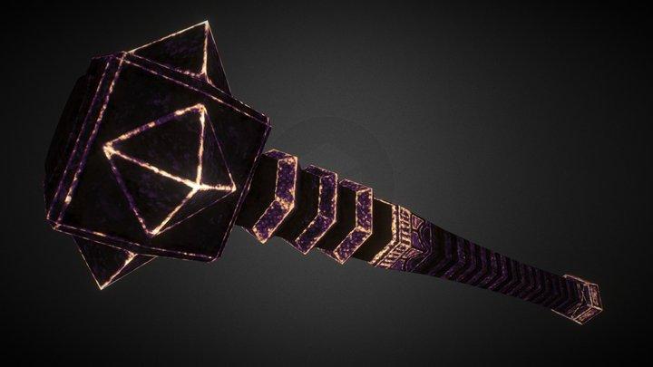 [W008] Cubic Mace 3D Model