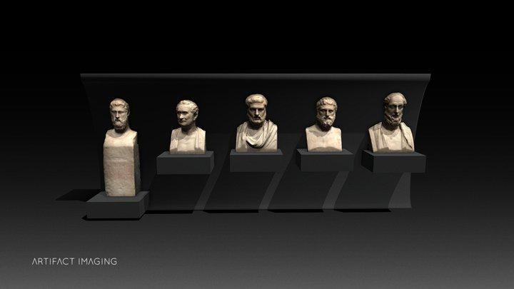 Roman Marble Portraits - Campana's Collection 3D Model
