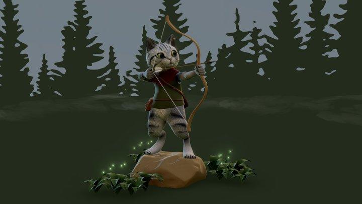 Hunter Cat 3D Model