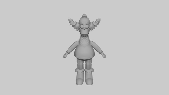 The Simpsons Game (2007) - Mini Krusty Toy 3D Model