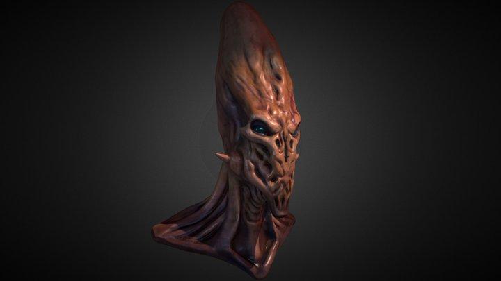 Alien Head 3D Model