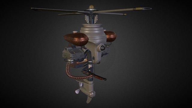 BioShock Security Bot 3D Model