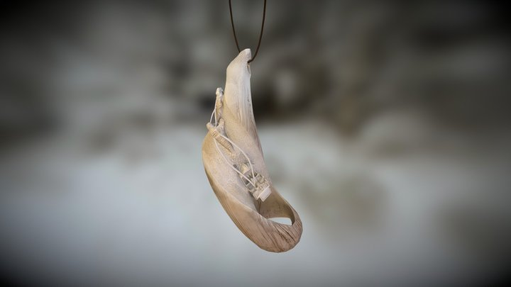19th Century Whale Tooth Ornament -UCAC4 3D Model