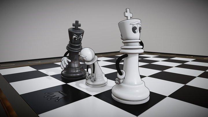 Black moves 3D Model