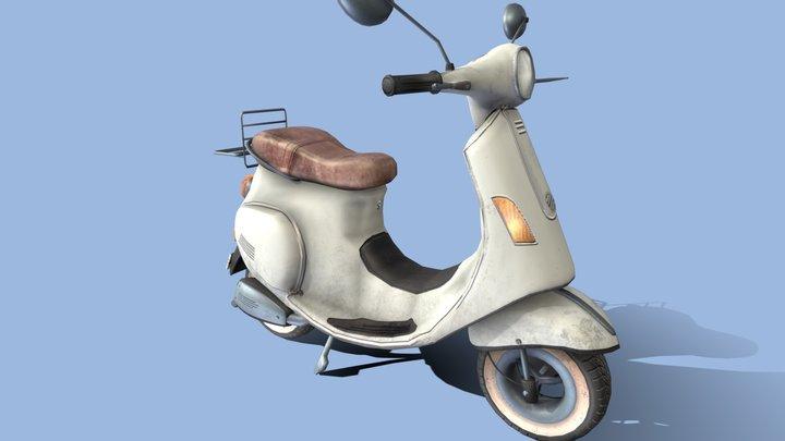 White motorbike 3D Model